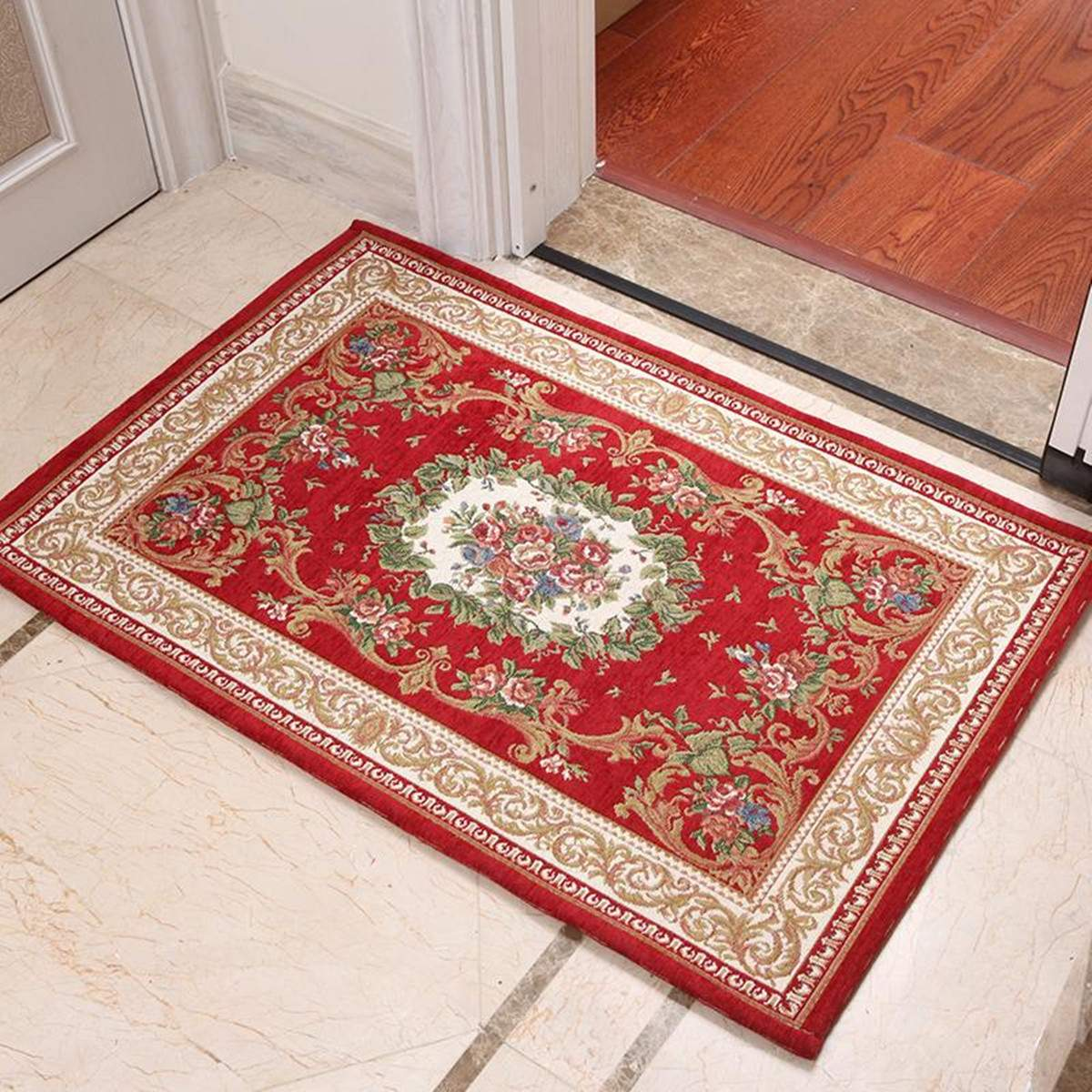 Traditional Handmade Area Persian Rug Oriental Mat Living Room Bedroom Carpet Home Decoration Anti-Slip Floor Carpet 60x90cm