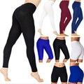 Женские хлопковые леггинсы, белые, черные, серые однотонные облегающие эластичные брюки, повседневные спортивные Леггинсы для фитнеса