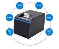 Listando impressoras de etiquetas de código de barras 100% nova qualidade original alta vestuário impressora etiqueta suporte 80mm impressão interface usb