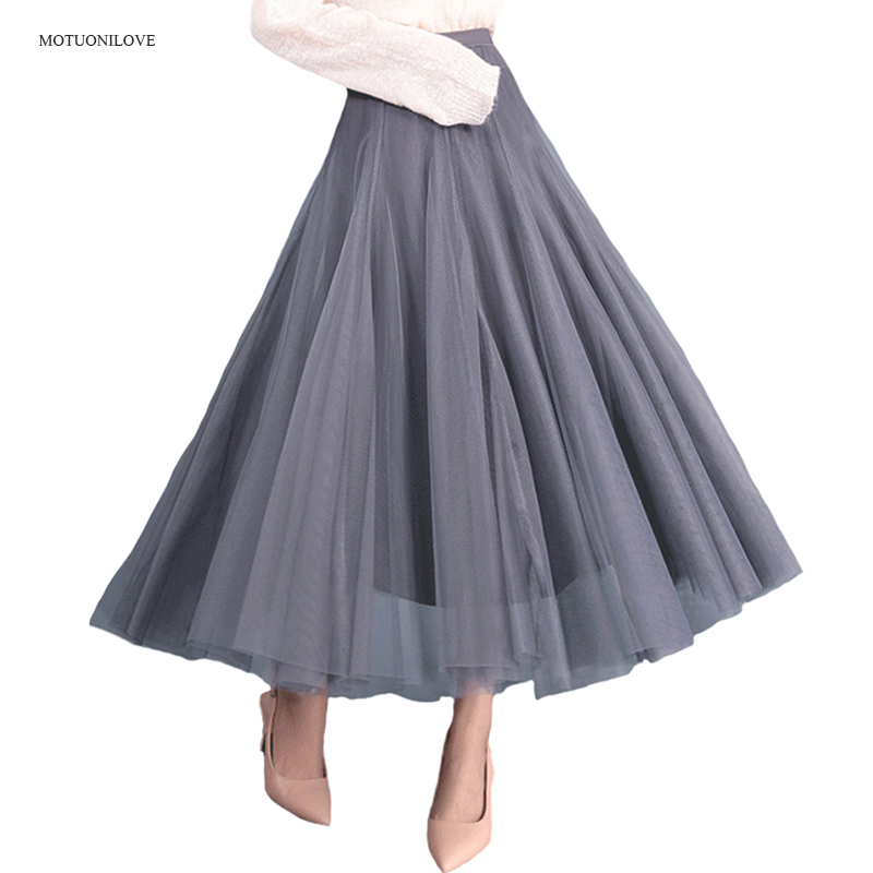 6 Available Color Petticoat Long UnderSkirt Elastic Style Women's High Waist Fashion Solid Girl Half Length Breathble Pink Black