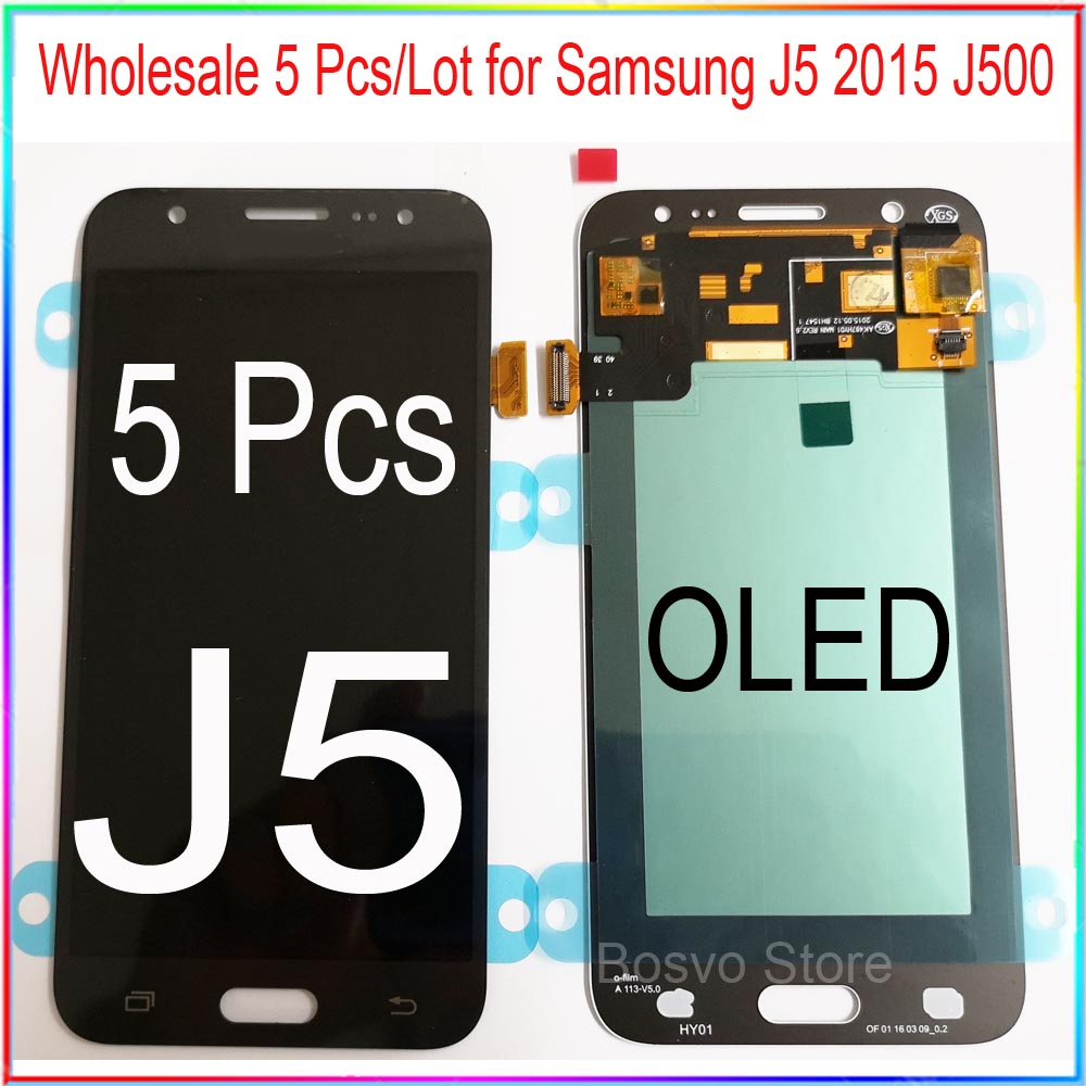 Wholesale 5 Pcs/Lot for Samsung <font><b>J5</b></font> 2015 <font><b>J500</b></font> LCD Screen display with touch Digitizer assembly image