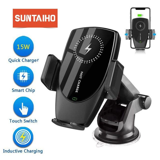 15W Car Mount Wireless Charger for iPhone 11 Pro XS Max XR X 8 Quick Qi Fast Charging Car Phone Holder For Samsung S10 S9 Xiaomi