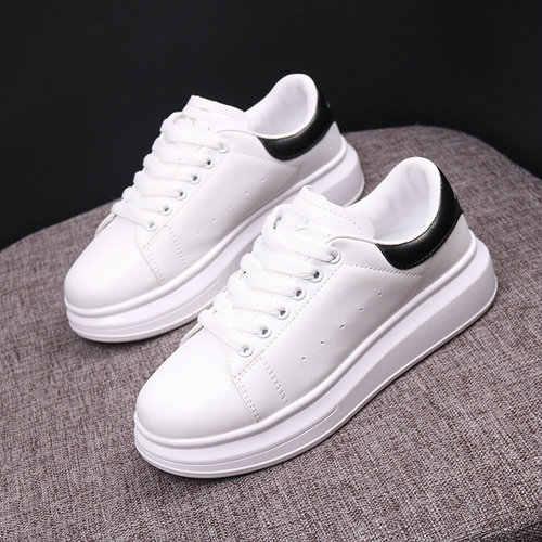 Boyutu 35-44 erkekler rahat ayakkabılar 2019 sonbahar erkekler Sneakers moda nefes PU deri platformu beyaz erkek ayakkabısı yumuşak Footwears