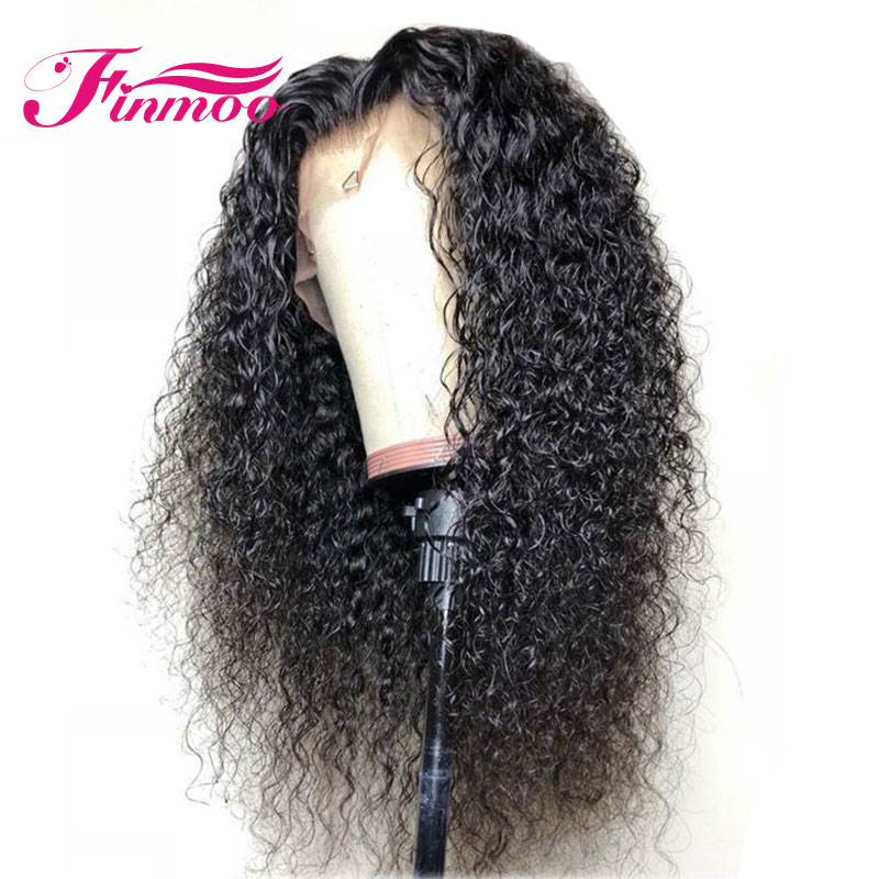 13X6 Curly Lace Front Human Hair Wigs PrePlucked With Baby Hair Brazilian Remy Hair Lace Front Wigs For Black Women Bleach Knots