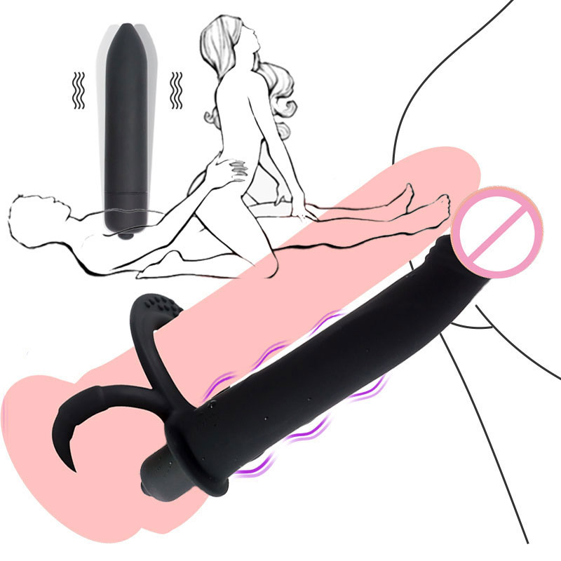New Double Penetration Strap On Vibrators Anal Beads Butt Plug G Spot Vibrator Erotic Sex Toys For Adult Women Games Accessories(China)