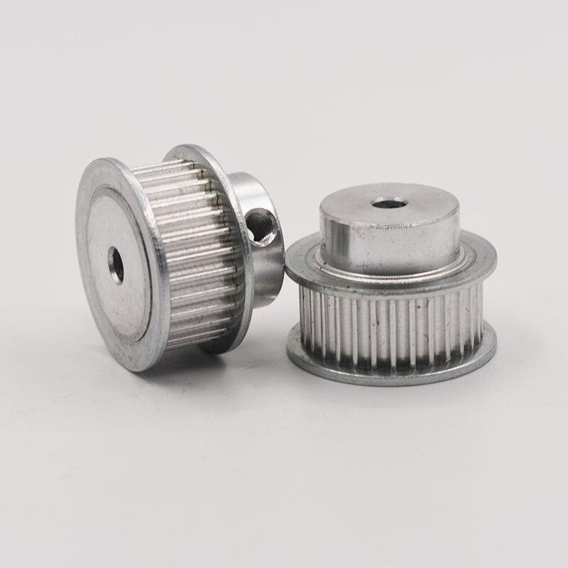 HTD Aluminium Legierung 3M Typ 28 T 28 Zähne 5/6/6. 35/7/8/10/12mm Innen Bohrung 3mm Pitch 11 Gürtel Breite Synchron Timing gürtel Pulley