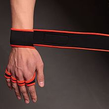 цена на Bracers Fitness Glove Anti-slip Hand Grips Pad Protect Wrist Support Dumbbell Wrap Strap Gloves Gym Weight Lifting Accessories