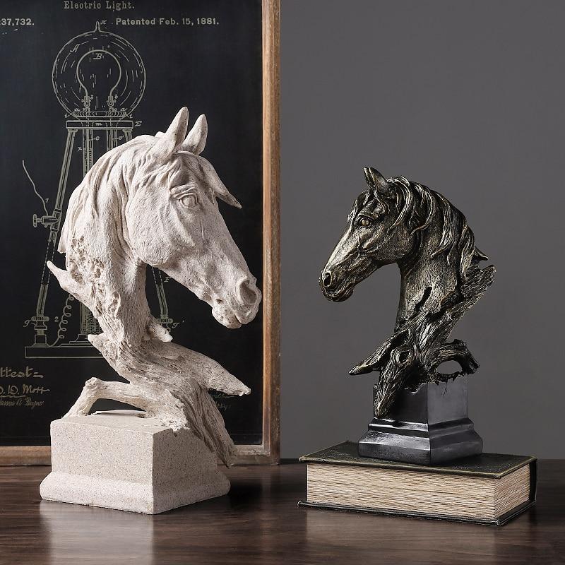 Resina escultura cavalo estilo simples casa escultura