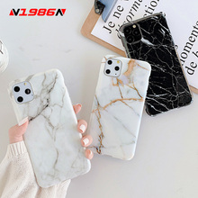 N1986N Phone Case For iPhone 6 6s 7 8 Plus 11 Pro X XR XS Max Fashion Colorful Art Marble Texture Smooth Soft IMD For iPhone 11