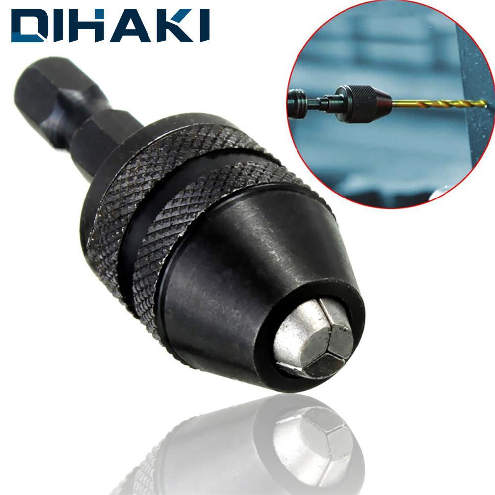 Keyless Chucks Adapter Drill Bit Quick Change Driver 0.3-3.6mm 1/4'' Hex Shank Hex Shank Adapter Converter Hexagonal Handle