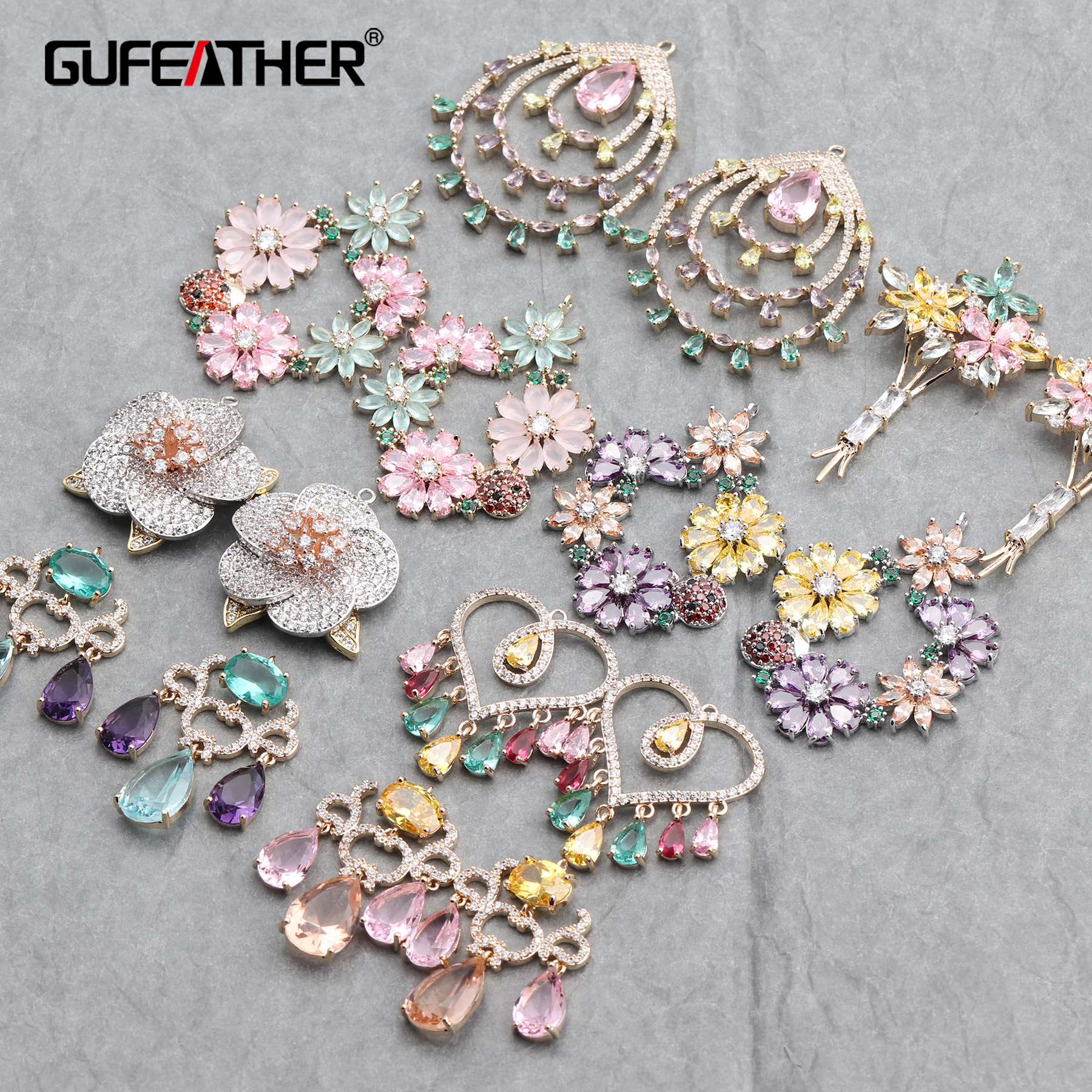 GUFEATHER M644,jewelry Accessories,diy Zircon Accessories,hand Made,jewelry Findings,charms,jewelry Making,diy Earrings,2pcs/lot