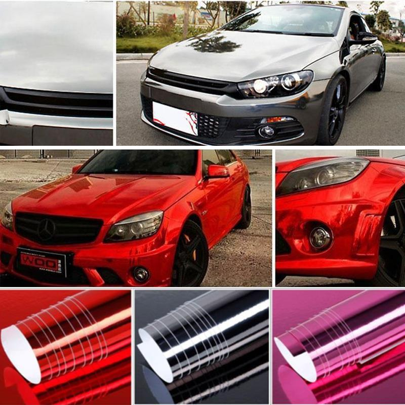 Vehemo Plating Color Wrap Plating Sticker Motorcycle Car Wrap Film Sticker Wrap Sheet For Auto Decoration DIY For Decal