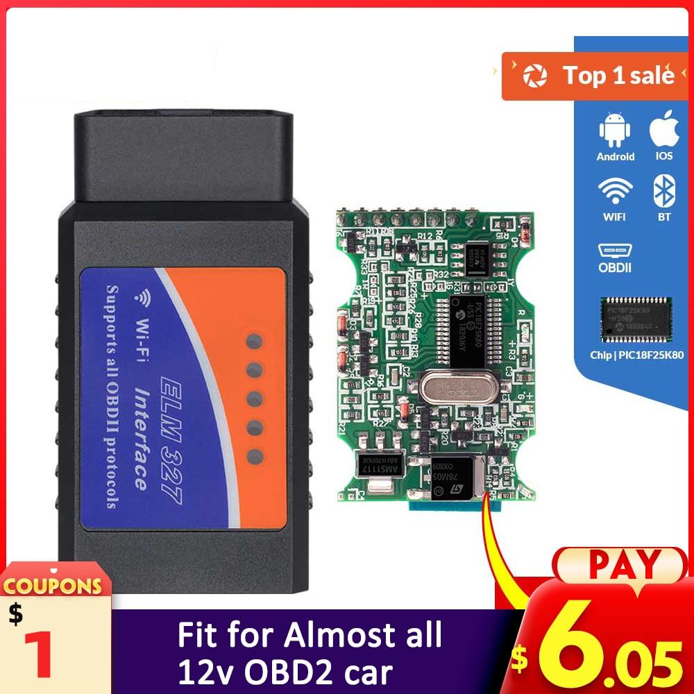 Auto-Diagnostic-Tool Obd2 Scanner PIC18F25K80 Elm 327 Bluetooth OBDII Ios/windows Wifi