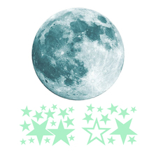 Children's Movable Moon Star Glowing in the Dark Sticker Night Sky Room Wall Decal Sticker peter straub in the night room