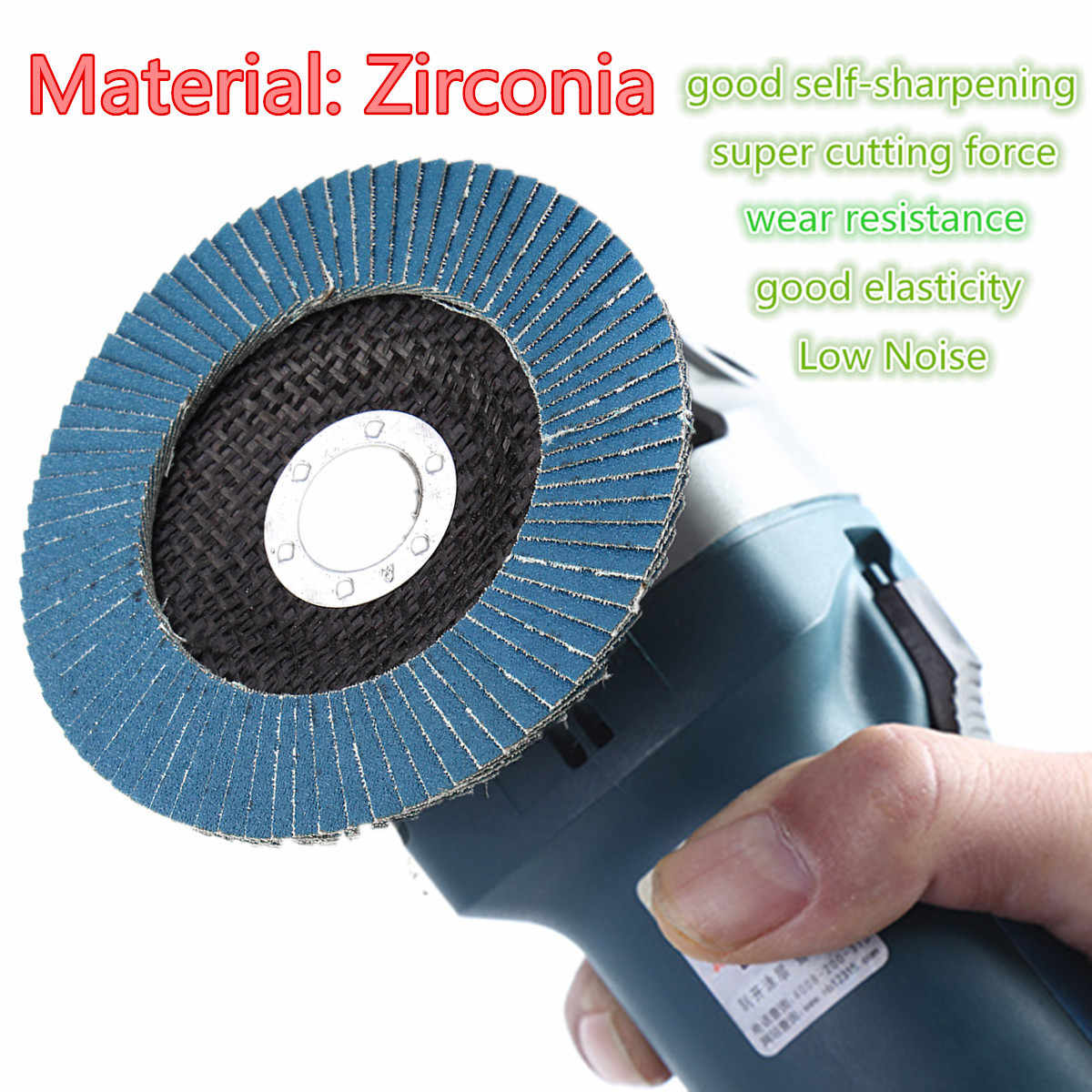 "13000 rpm 40/60/80/120 Grit Grinding Wheel Flap Disc 125mm 5"" Angle Grinder Sanding Tool Zirconia Wear Resistance Abrasive Tools"