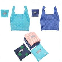купить Women Reusable Shopping Bag Foldable Bag Fashion Flower Printing Folding Recycle Handbags Home Organization Tote Bag дешево
