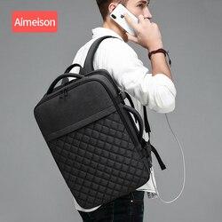 Aimeison Mannen Rugzak Grote Capaciteit Mannelijke Mochila Back Anti-dief Tas USB Opladen Laptop Rugzak Waterdicht