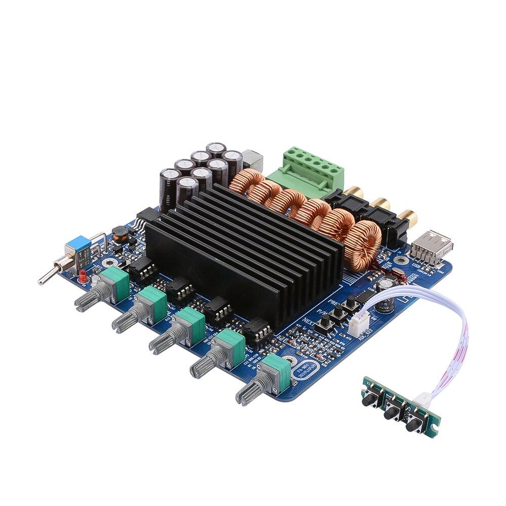 AIYIMA 220 Вт 100 Вт * 2 усилитель звука Bluetooth 5,0 аудио усилитель сабвуферные усилители плата 2,1 каналов TDA7498E системы домашнего кинотеатра