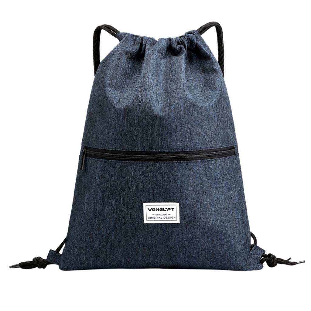 Fashion Unisex Waterproof Zipper Bundle Rope Travel Sport Backpack School Bags Anti-theft Waterproof Bags For Men Women #GEX