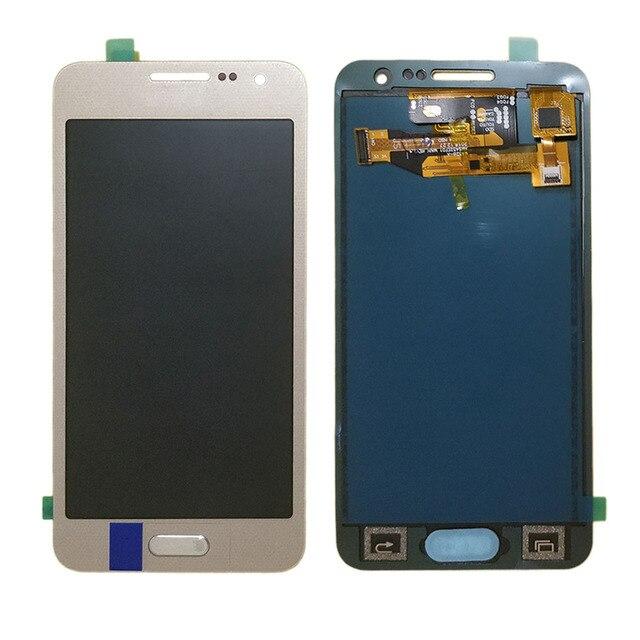 لسامسونج غالاكسي A3 2015 A300 A300F A300M A300FU شاشة إل سي دي باللمس الجمعية الشاشة سطوع قابل للتعديل 100% اختبار TFT LCD