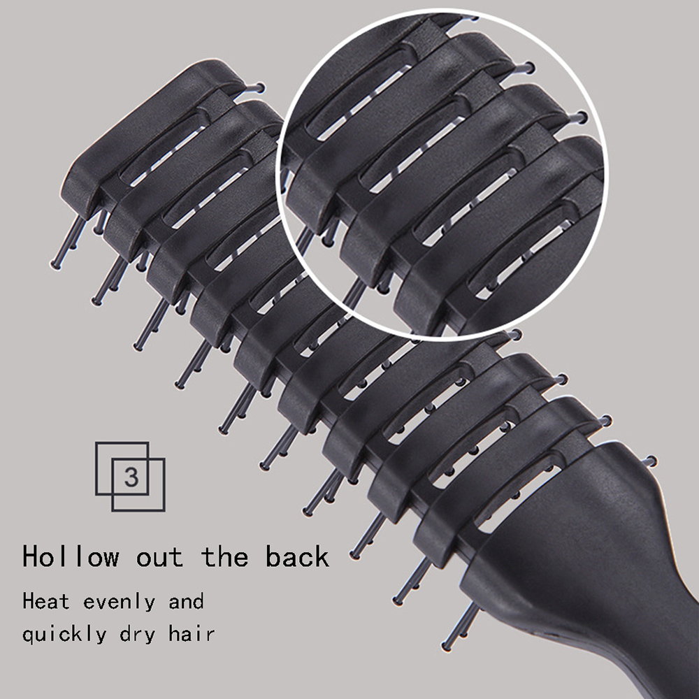Купить с кэшбэком Hairbrush Curling Hair Comb Hairdressing Hair Brush Comb Salon Round  Heat Resistant Hairbrushes Styling Accessories