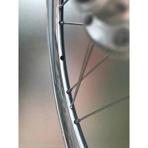 "Image 2 - Bike Alloy Wheelset 1 3/4 Speed 16 x1 3/8"" 349 Width 40mm Rim 14H/21H For Brompton 3sixty Ultralight Folding Bike Wheelset 1176g"