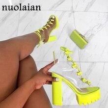 12CM High Heel Shoes For Woman PVC Platform Pumps Lady Party