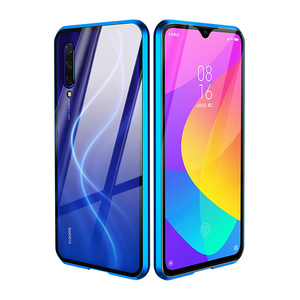Image 3 - Double Tempered Glass Protective Case For Xiaomi Mi A3 10 9 Lite CC9 Mi9T Pro Metal Magnet 360 Full Transparent Glass Case Cover