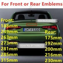 4 anel de alta qualidade abs 3d auto capô dianteiro grill tronco traseiro emblema emblema logotipo para audi estilo do carro adesivo acessórios