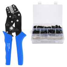 Sn-01Bm Xh2.54 Sm Plug Spring Clamp Crimping Tool Pliers Awg28-20 With 520Pcs Dupont 2.54Mm Pin Terminal Connectors