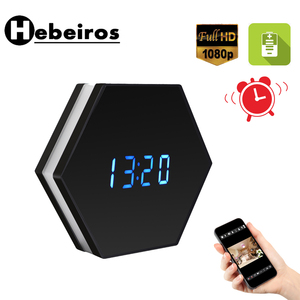 Image 1 - Hebeiros 2MP Batterij Wandklok IP WiFi Camera HD 1080P P2P Audio Nachtzicht Motion Detecion Smart Home CCTV monitor