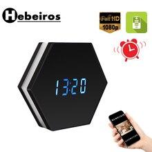 Hebeiros 2MP batterie horloge murale IP WiFi caméra HD 1080P P2P Audio Vision nocturne détection de mouvement Smart Home CCTV moniteur