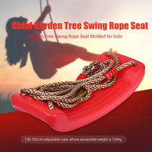 Child Outdoor Garden Tree Swing Rope Seat Molded For Kids Plastic Swings Belt Seat Toys Hanging Kindergarten Playground Gifts(China)