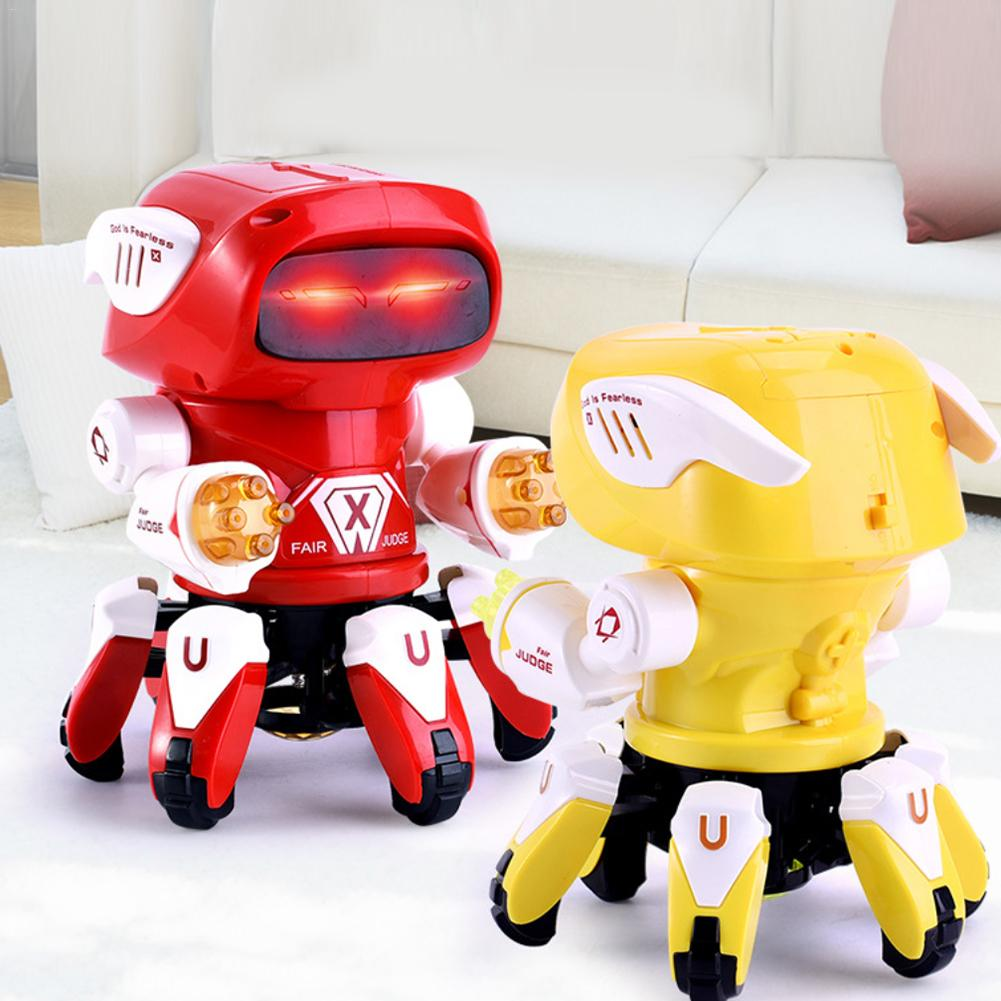 Electric Octopus Dancing Robot Dance Robot With Light Music Projection Interactive Toys For Children