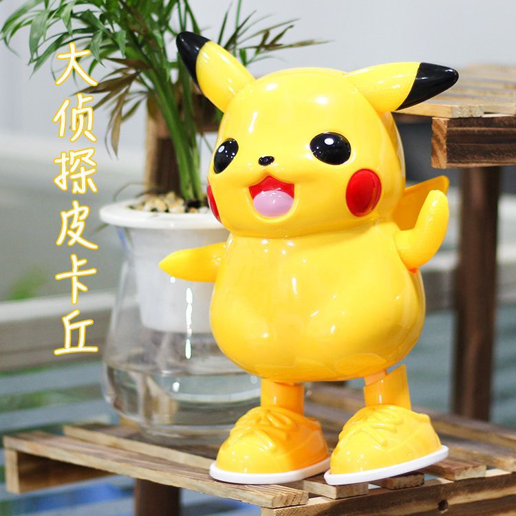 Douyin Hot Selling Electric Dancing Pikachu Children Light Music Electric Doll Dancing Robot Toys