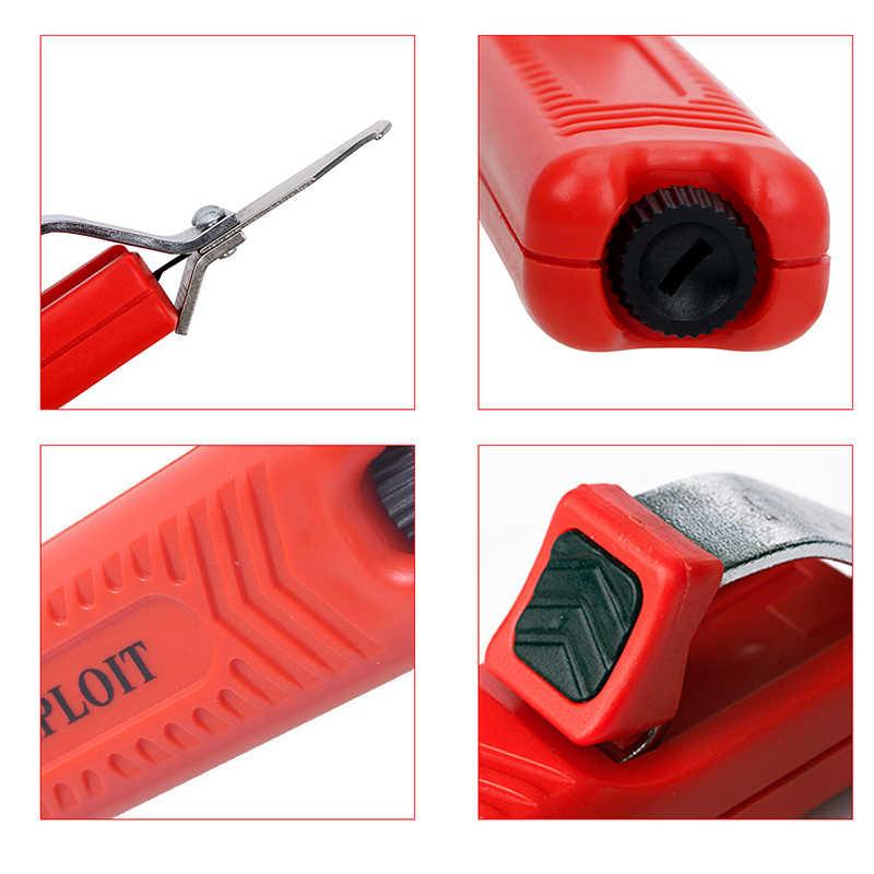 Portable Kabel Kawat Stripper Pisau Adjustable Pegangan Karet Kabel Stripper Insulation Stripper Stripping Pemotong dengan Kait Pisau
