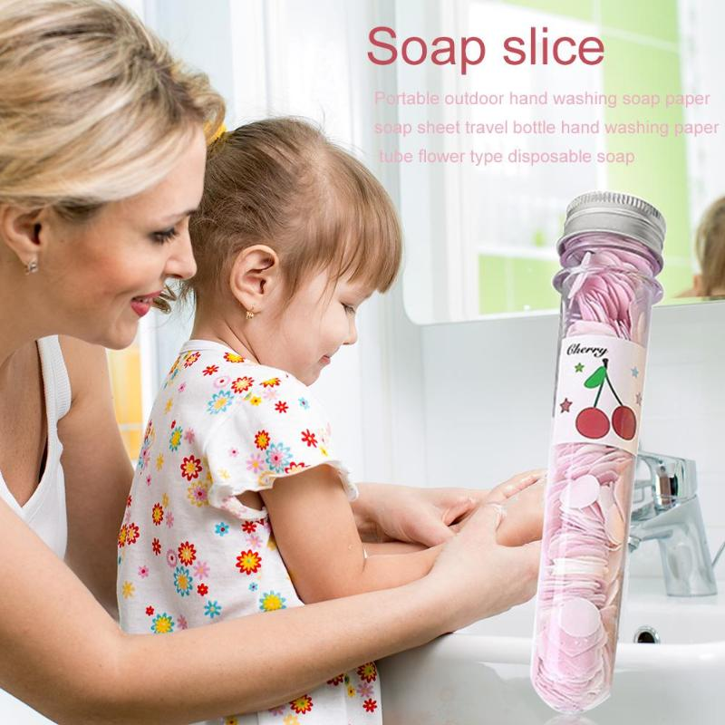 Bath Soap Slice Test Tube Portable Travel Foaming Body Hand Washing Mini Paper Lightness Portability Convenient Carrier
