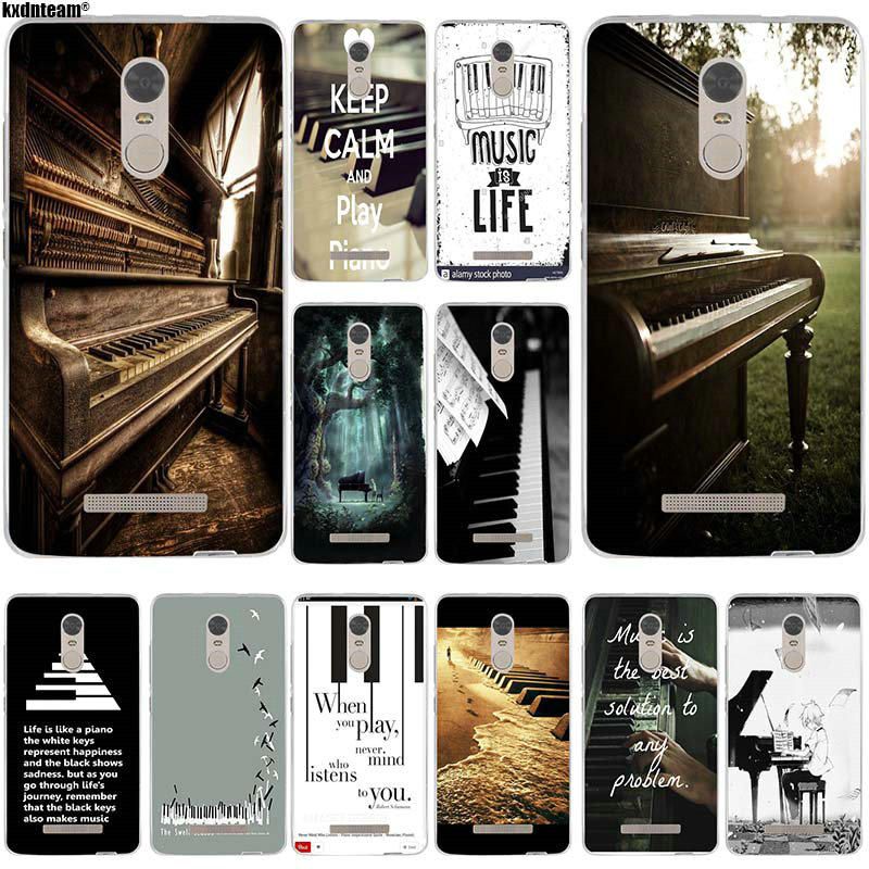 Soft TPU Silicone Mobile Phone Cases for Xiaomi Redmi Mi Note 4X 2 3 3S 4A 5 6 5S 5X 5A 6X Pro Plus Music Software Piano Plug image