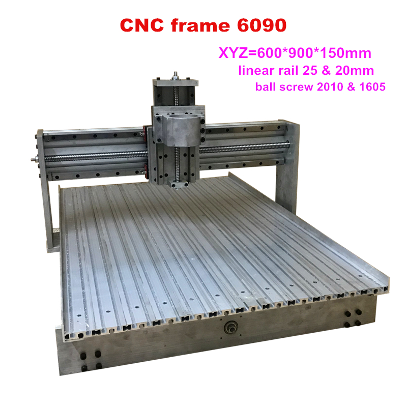 6090  CNC Router Frame Kit DIY Linear Guideway Rail Engraver Machine Parts Ball Screw Spindle Motor Optional