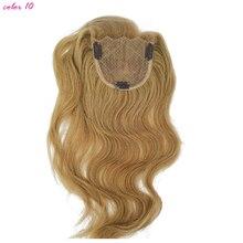 """1 шт шелковая основа remy волосы закрытие прямые(""""* 4"""") Remy человеческие волосы 1""""-20"""" продукты кружева закрытие волос гладкие"""