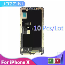 10 PCS AAA+++ For iPhone X Screen LCD Display Touch Screen Digitizer Assembly For iPhone X LCD display+Tempered Film 100% Tested