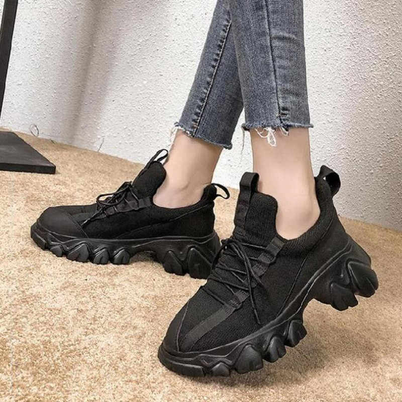 Nữ Giày Huấn Luyện Cá Tính Thiết Kế Giỏ Giày Người Phụ Nữ Chaussures Femme Espadrilles Nền Tảng Ngoài Trời Giày W4