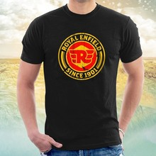 Camiseta d do sinal do vintage do royal enfield(China)