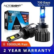 NOVSIGHT H11 Led Car Lamps 6000K 72W 10000LM Pair H4 H7 H1 H13 9005 9006 9004 H3 9007 9012 881 Fog Light Replace Bulb Headlight