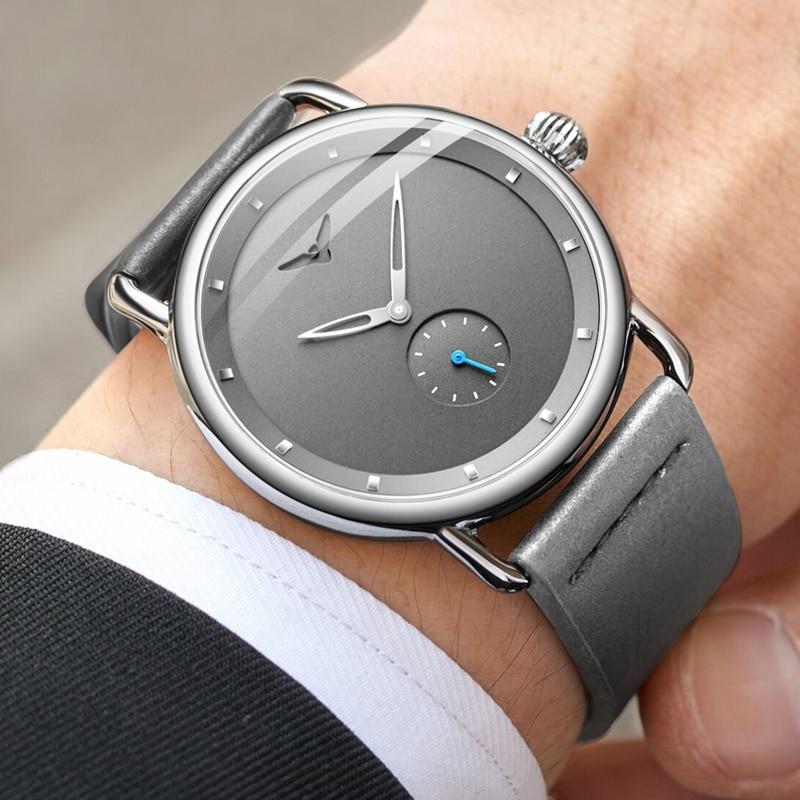 Casual watch men brand ONOLA quartz wristwatch simple waterpoor leather man watch Luxury watches 2