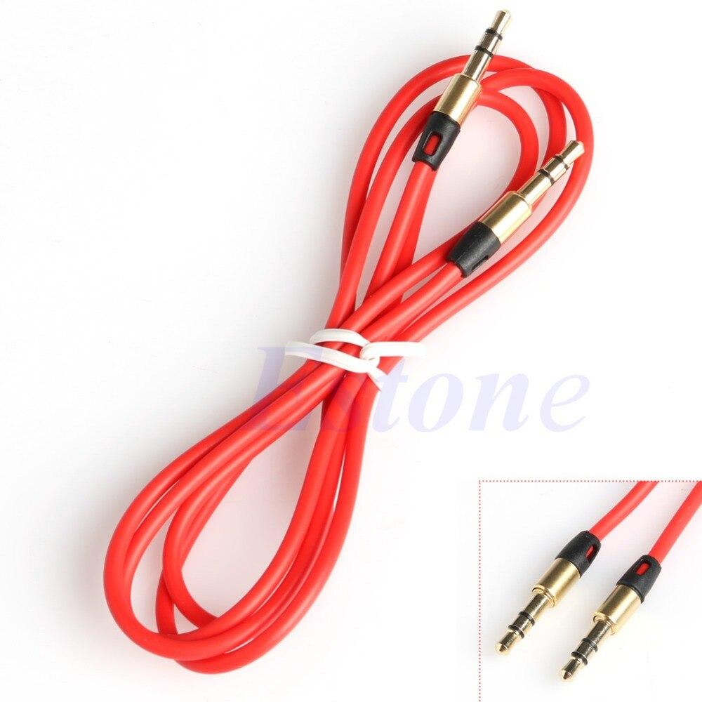 Lot mâle à mâle 3.5mm AUX câble d'extension Audio stéréo pour iPhone iPod MP3 voiture