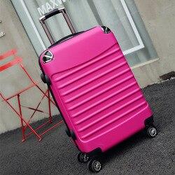 Letrend Vintage ABS + PC Roll Gepäck Spinner Trolley Frauen Reisetasche 20 zoll Kabine Koffer Rad 24/26 zoll Retro stamm