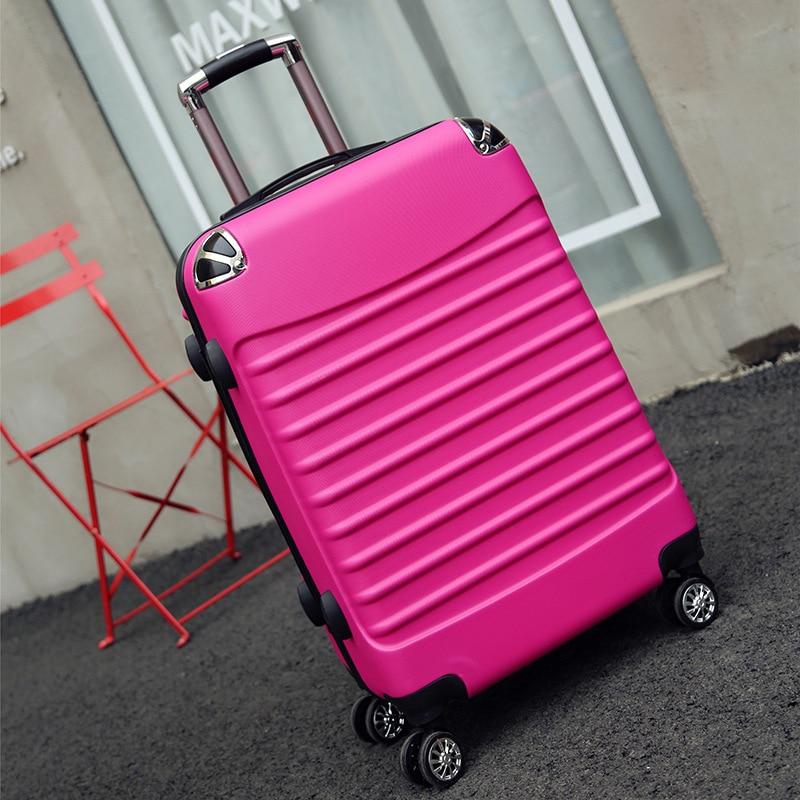 Letrend Vintage ABS + PC bagages roulants Spinner chariot femmes sac de voyage 20 pouces valises de cabine roue 24/26 pouces rétro coffre