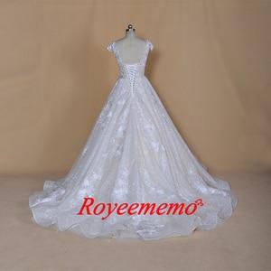 Image 5 - Robe de mariée sur mesure, robe de mariage brillante, robe de mariée, à manches courtes, sur mesure, robe de bal dubaï bling, directement à lusine, 2020