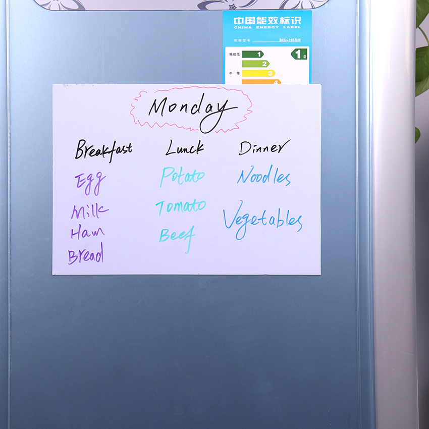 Magnetic Whiteboard A4 Soft Magnetic Board Dry Erase Drawing Recording Board For Fridge Message Children'S School Supplies 1PC